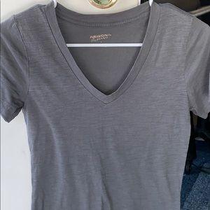 Charcoal Gray v-neck t-shirt